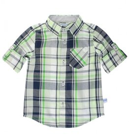 RuggedButts Reid Plaid Button Down Shirt 2T
