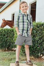 RuggedButts Reid Plaid Button Down Shirt 18-24 months