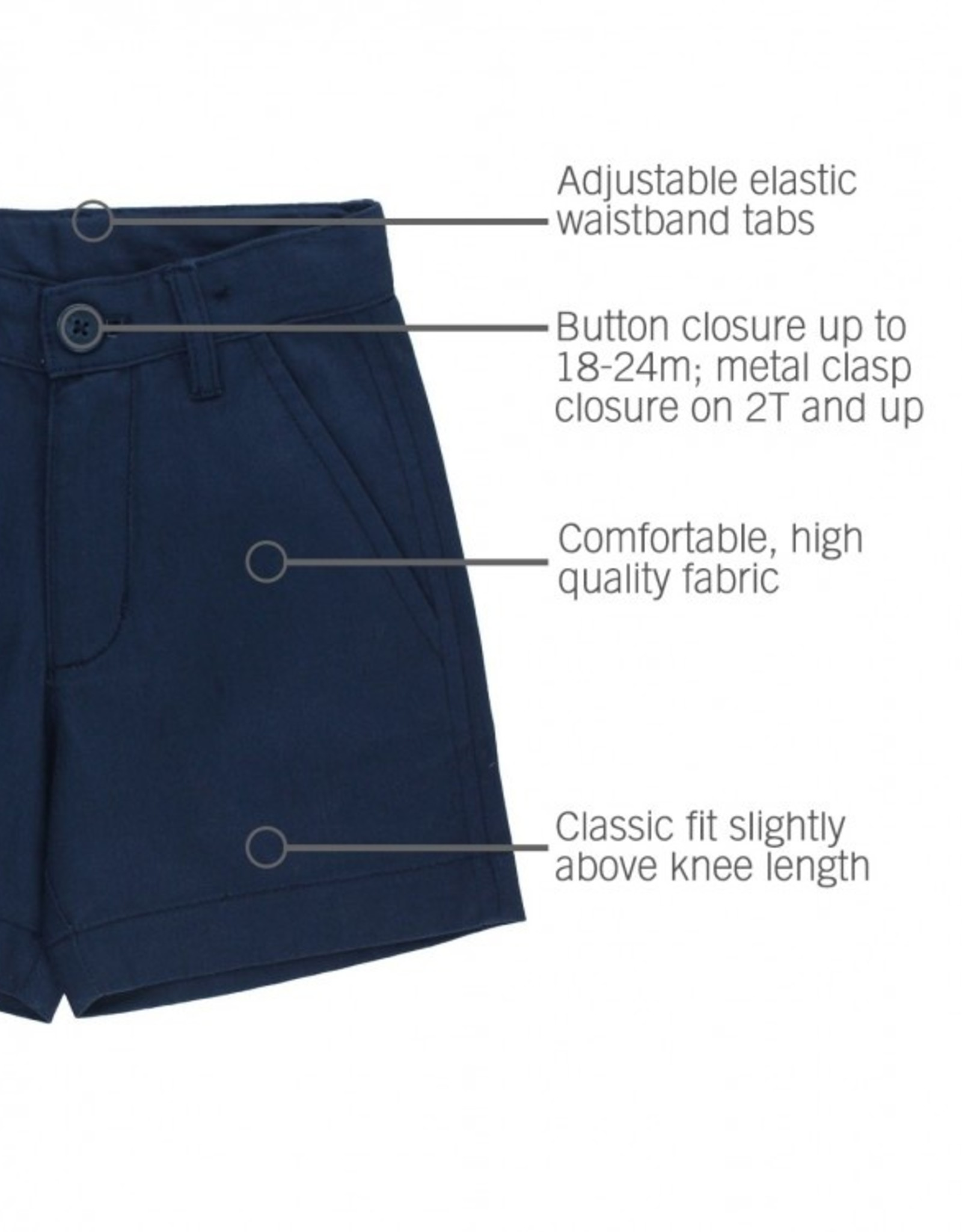 RuggedButts Navy Lightweight Chino Shorts 2T