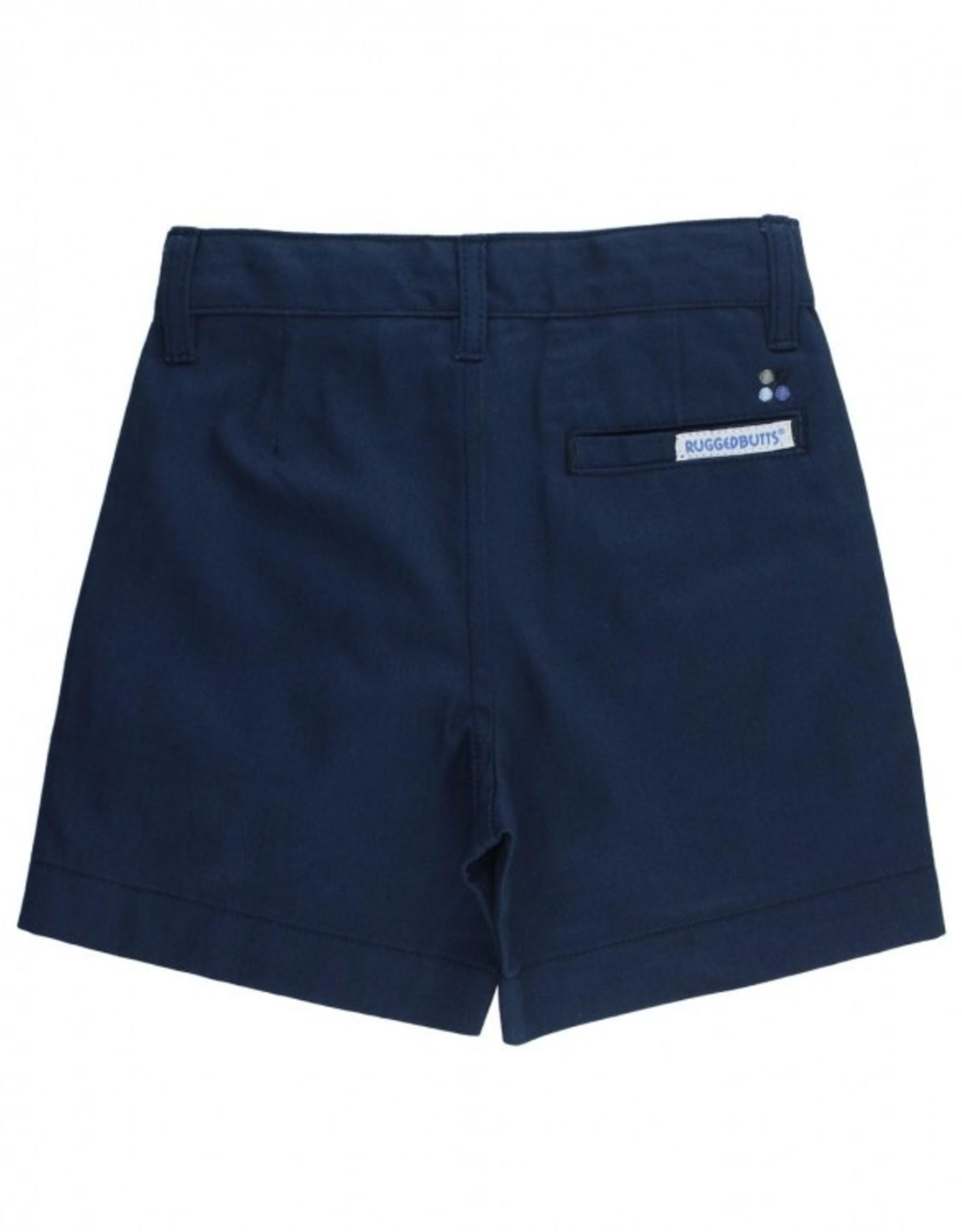 RuggedButts Navy Lightweight Chino Shorts 18-24 months