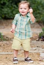 RuggedButts Khaki Lightweight Chino Shorts 12-18 months