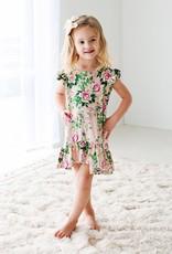 Posh Peanut Renia ruffled capslve Hi-Low Dress