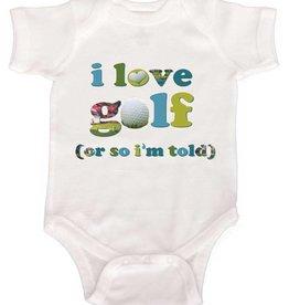 I love Golf Onesie - 6 months