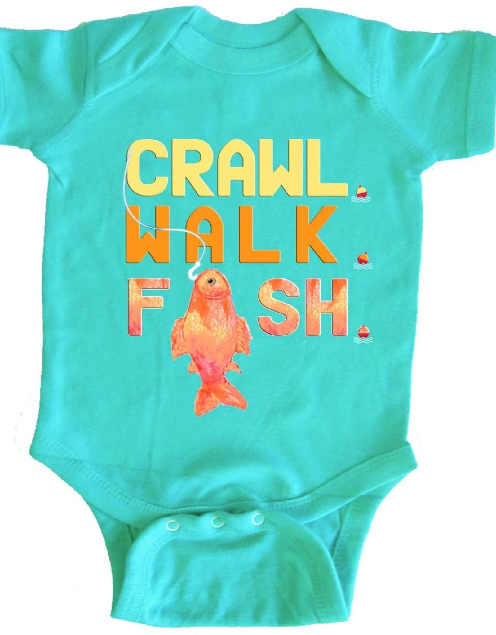 Crawl, Walk, Fish Onesie
