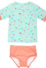 RuffleButts Flamingo Beach Bikini 18-24 mos.