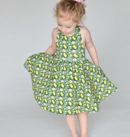 Lemon Floral Sophia Dress 3/4