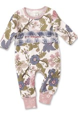 Floral Tapestry Ruffle Romper 3-6