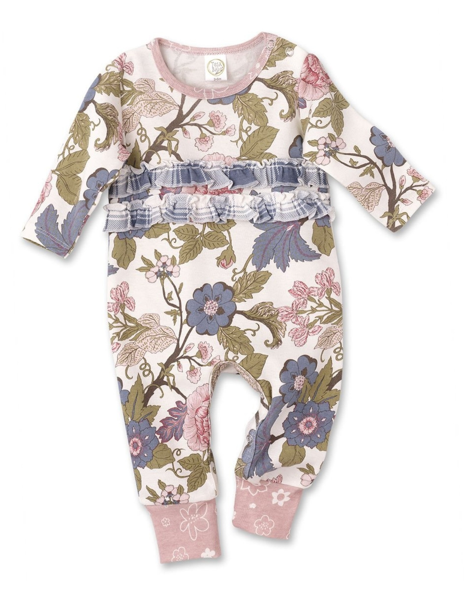 Floral Tapestry Ruffle Romper 6-12