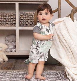 Campout Boy's Shortie Romper 3-6 months