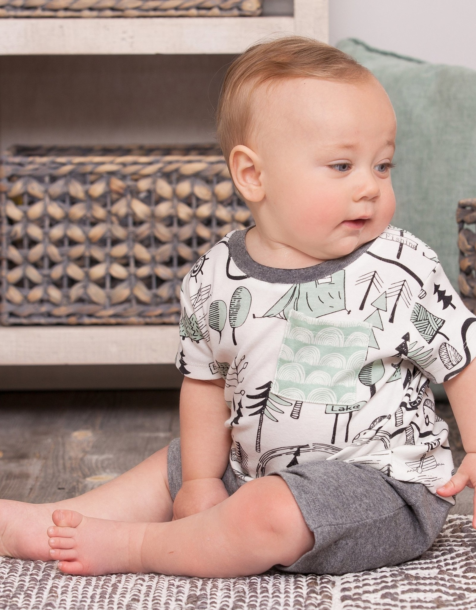 Campout Top and Shorts Set 18-24 mos.