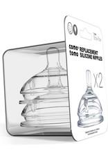 Comotomo Comotomo Baby Bottle Silicone Replacement Nipples (2 Pack)