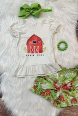 Farm Girl Ruffle Short Set 3-6 mos.