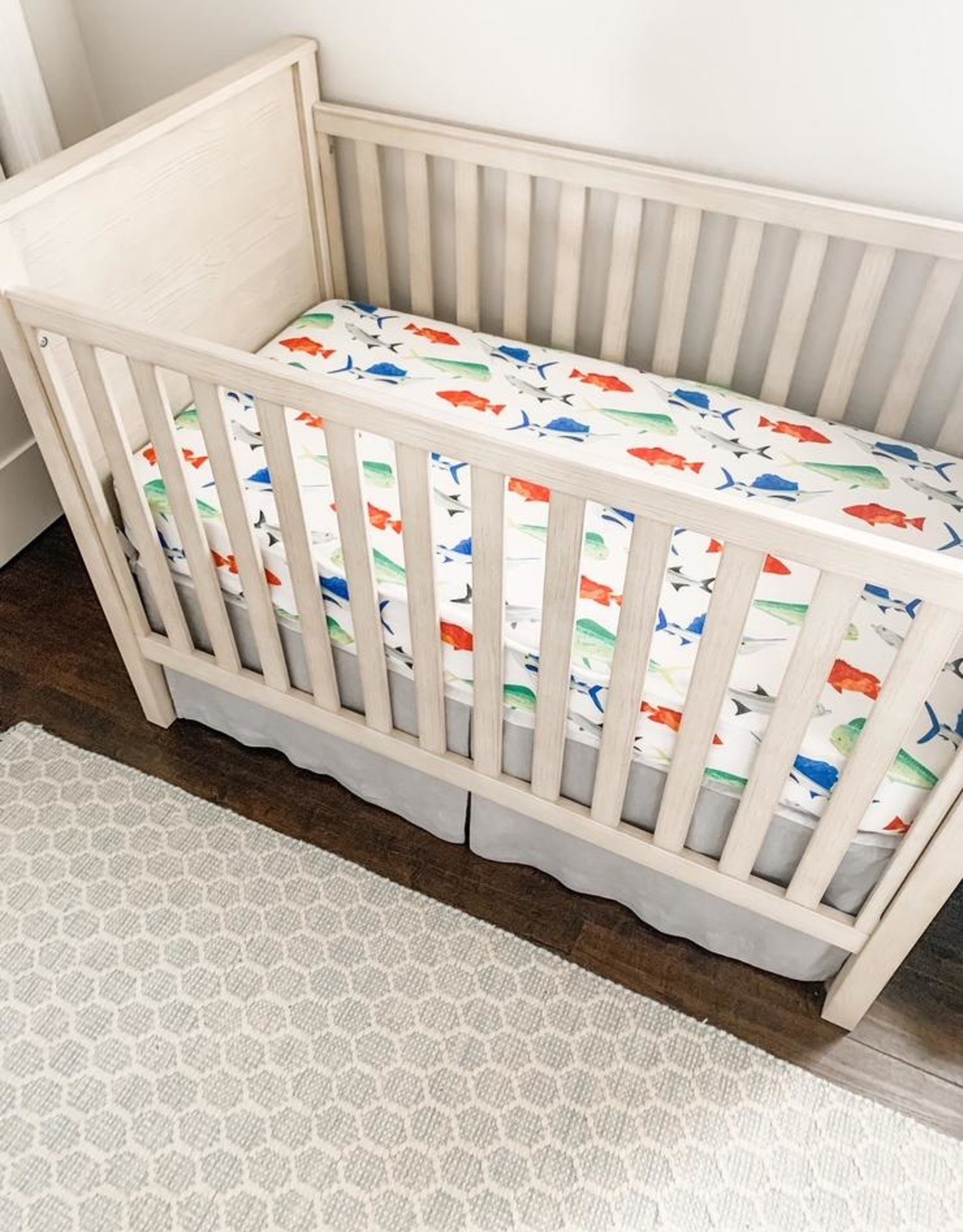 Florida Kid Co. Fish Crib Sheet