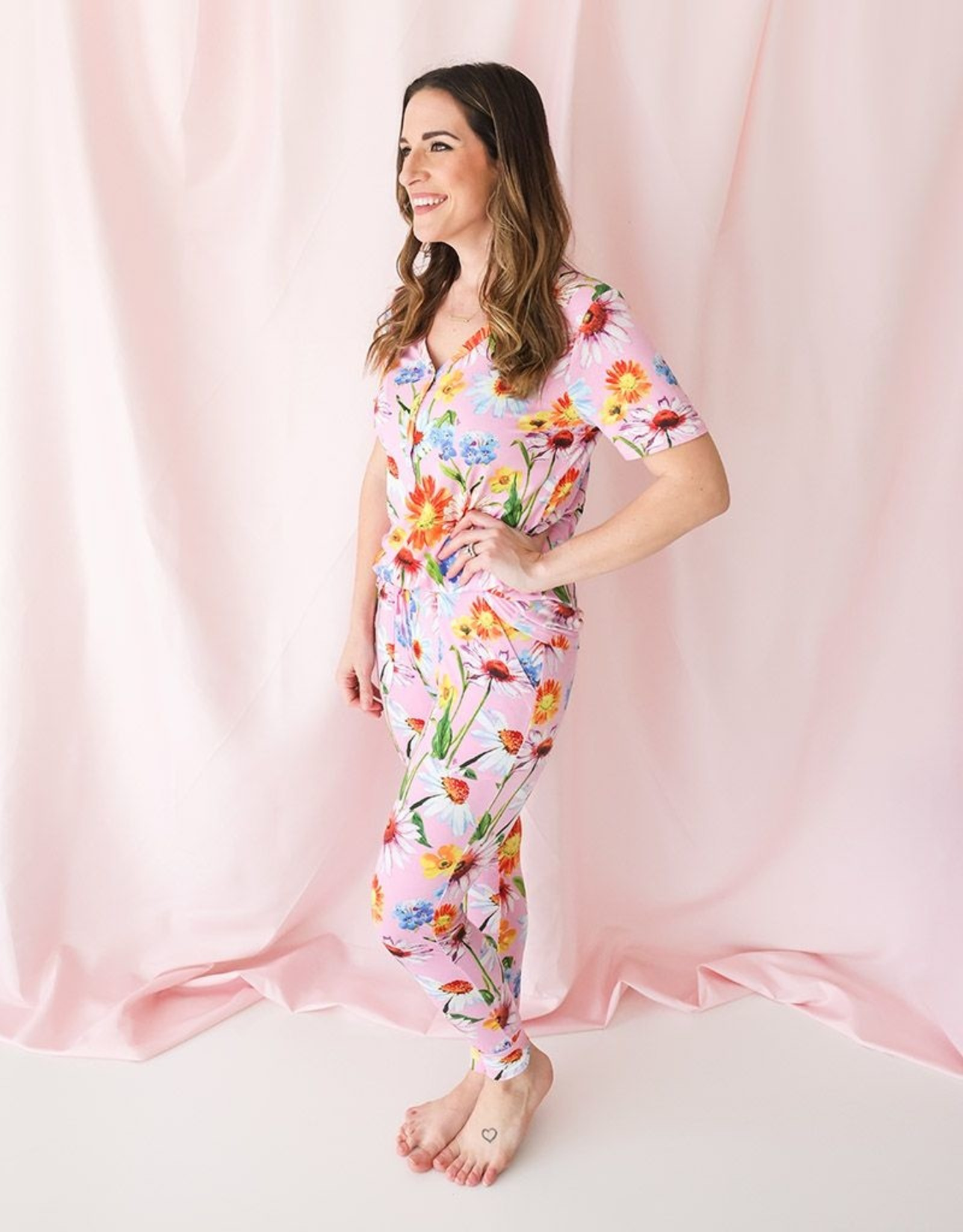 Posh Peanut Mommy PJ's - Kaileigh Women's Short Slv.