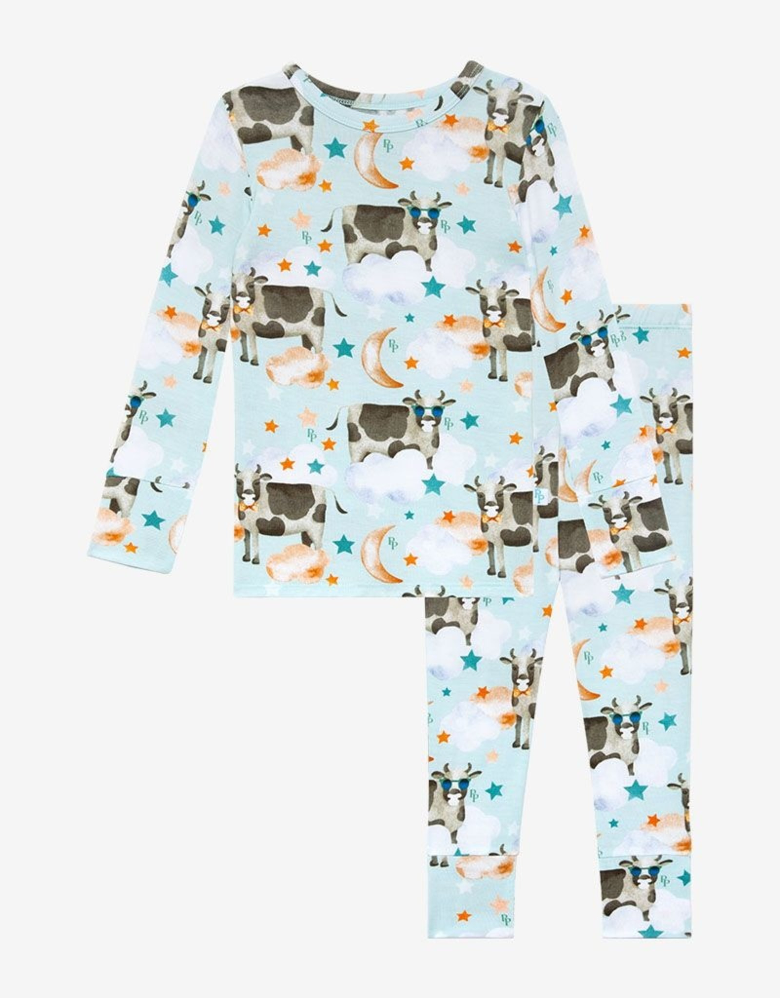 Posh Peanut Tex Lng Slv Pajama