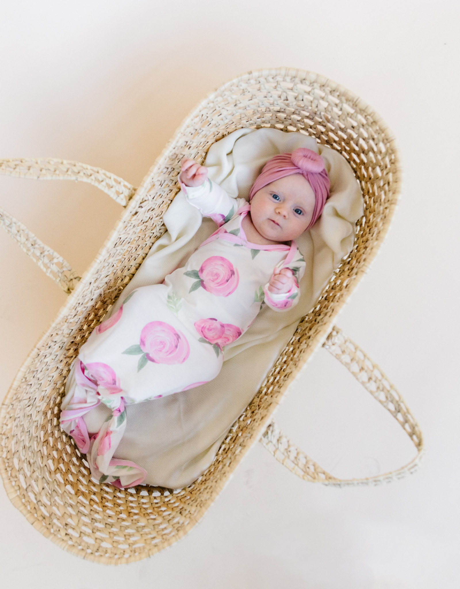 Copper Pearl Grace Newborn Knotted Gown