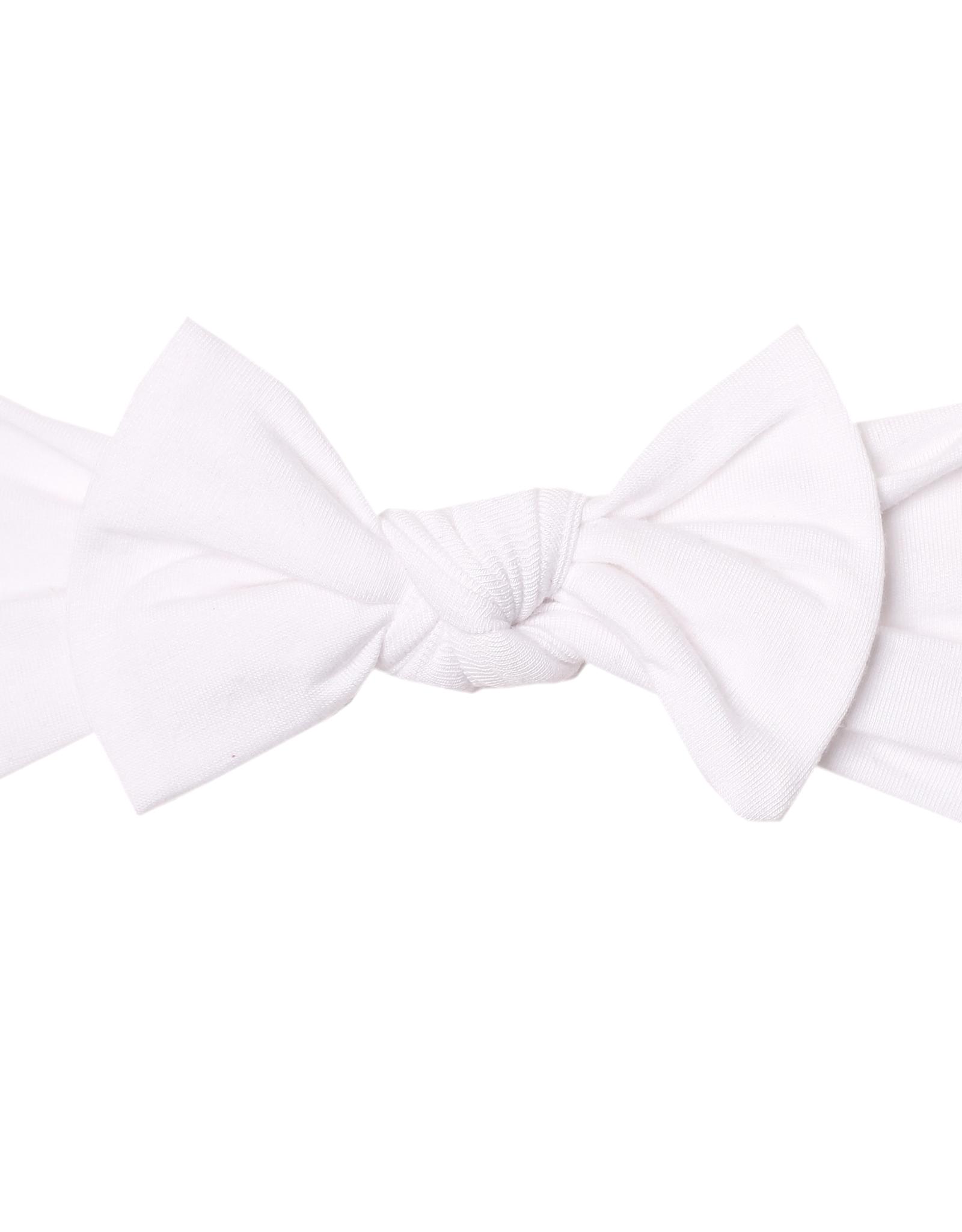 Copper Pearl Dove Knit Headband Bow