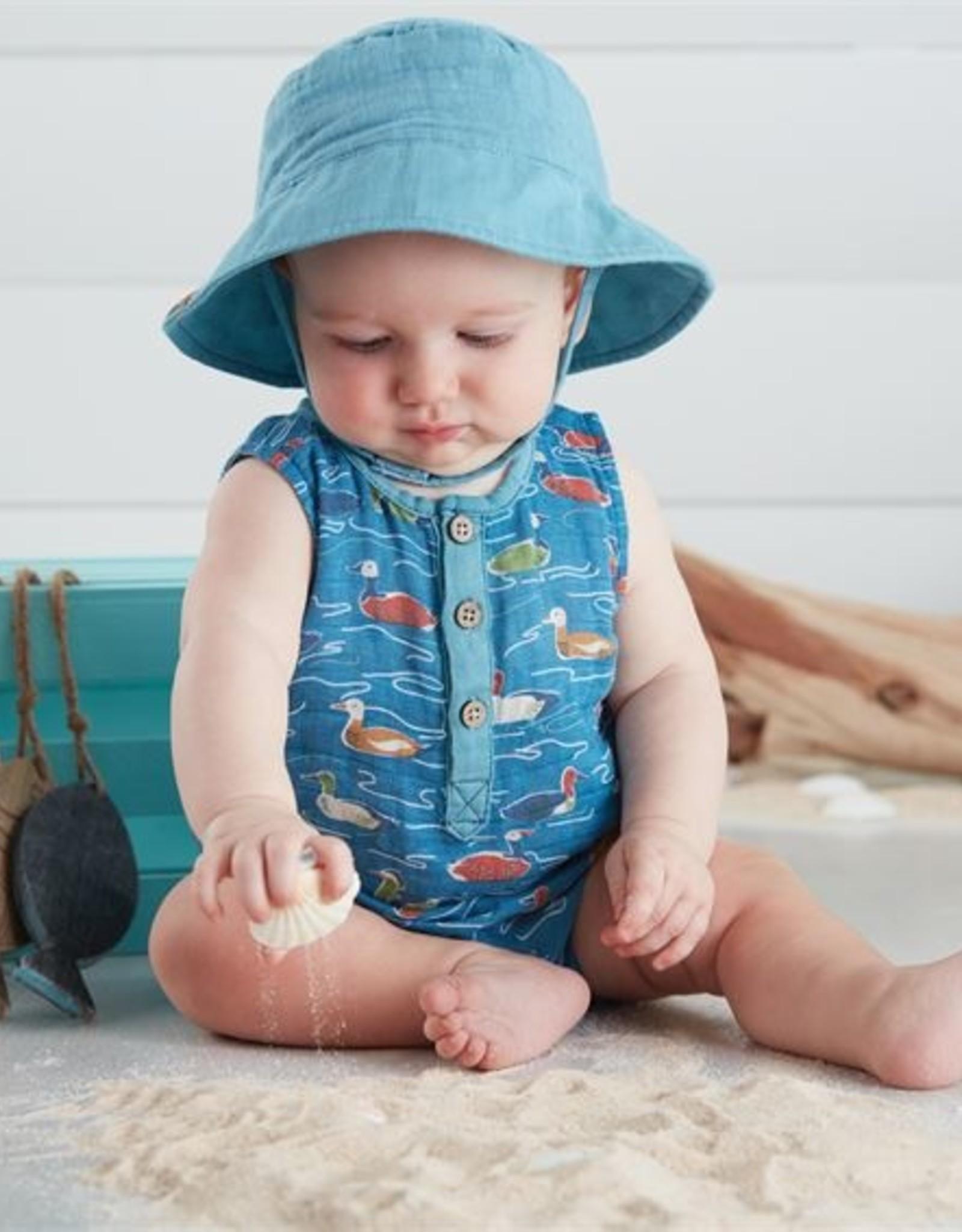 Mud Pie Mallard Pond Romper & Hat 9-12 months