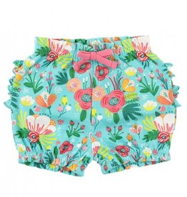 RuffleButts Flower Patch Bubble Shorts