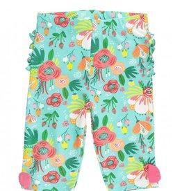 RuffleButts Flower Patch Capri Leggings - Toddler