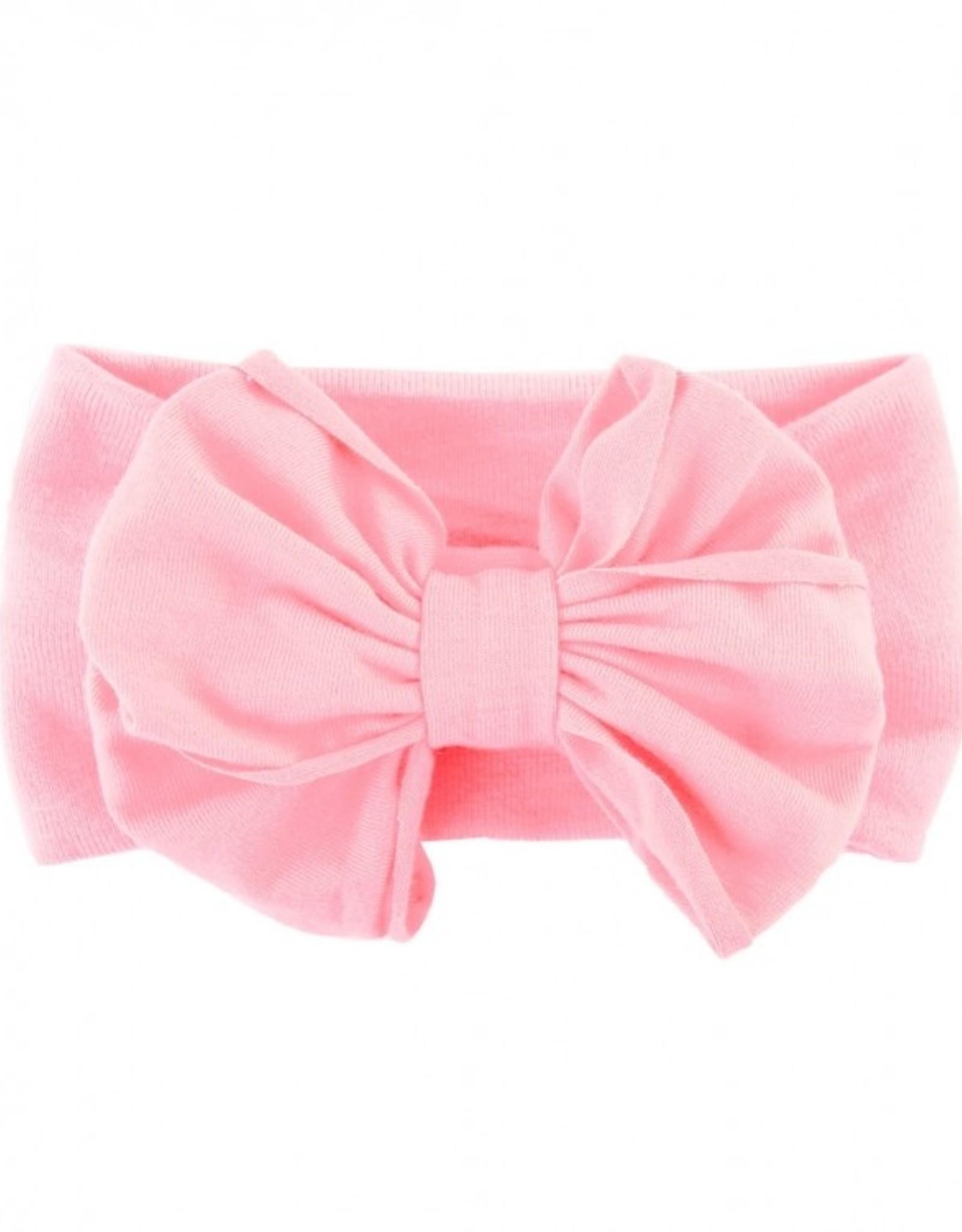 RuffleButts Pink Big Bow Headband - one size