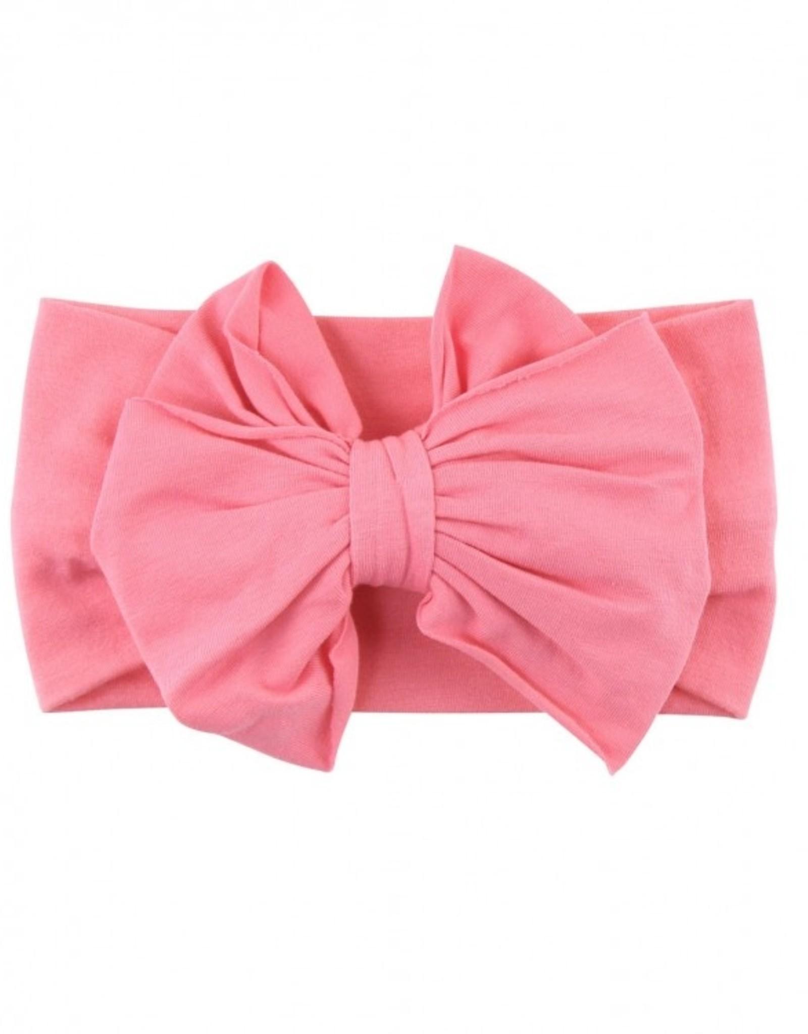 RuffleButts Rose Big Bow Headband - one size