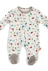 Magnetic Me Dino Expedition Footie, organic cotton