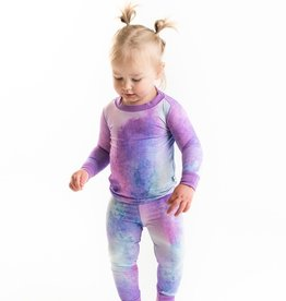 Little Sleepies Purple Watercolor Bamboo 2 pc Pajamas 18-24 months