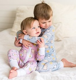 Little Sleepies Bamboo 2pc Pajamas 3T (boy/girl prints)