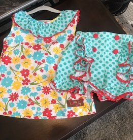 Summer Daisies 2 pc Shorts/Top Set 3T