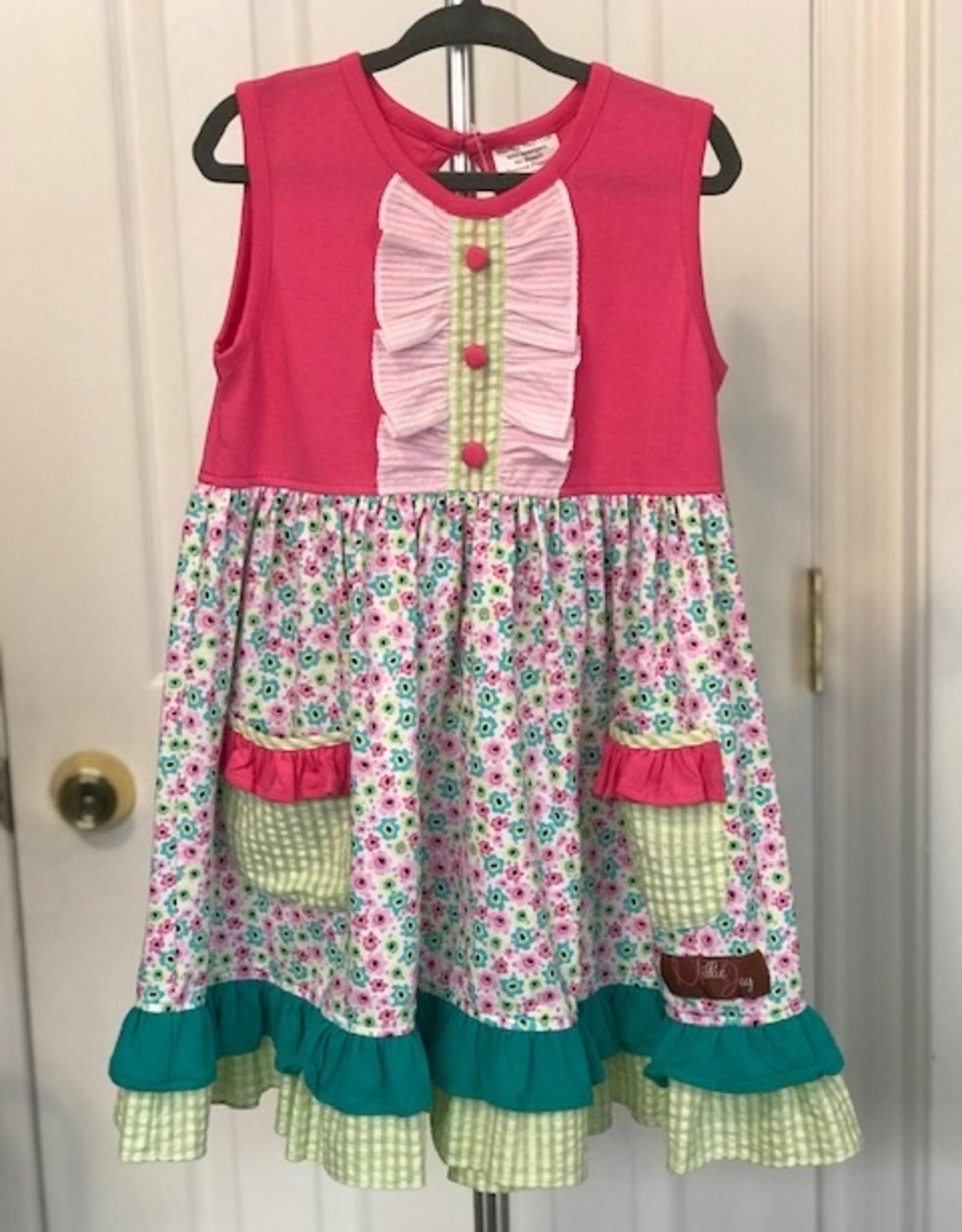 Pink Floral Pocket Dress 3T