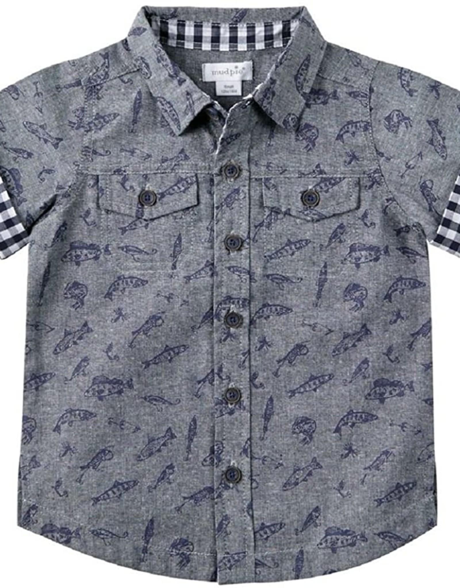 Mud Pie Fishing Resort Shirt