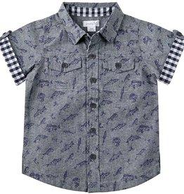 Mud Pie Fishing Resort Shirt 2T/3T