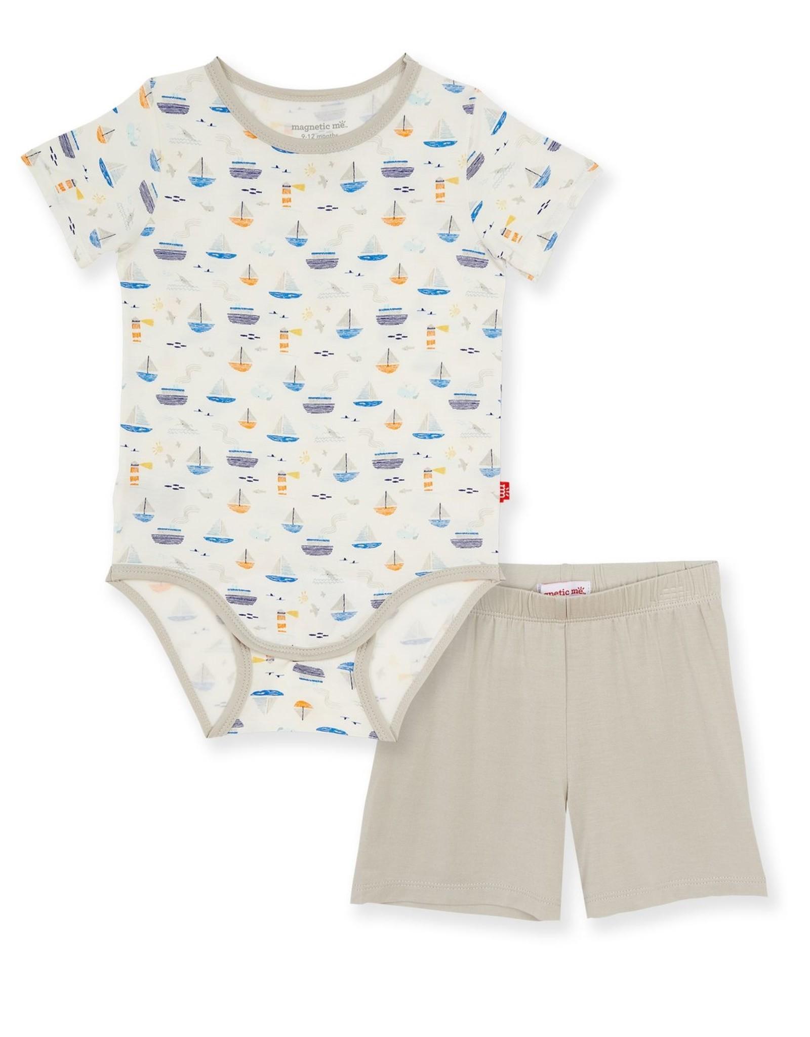 Magnetic Me Monterey Bay Modal Bodysuit & Short Set