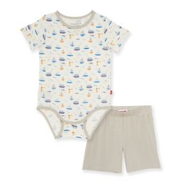 Magnetic Me Monterey Bay Modal Bodysuit & Short Set