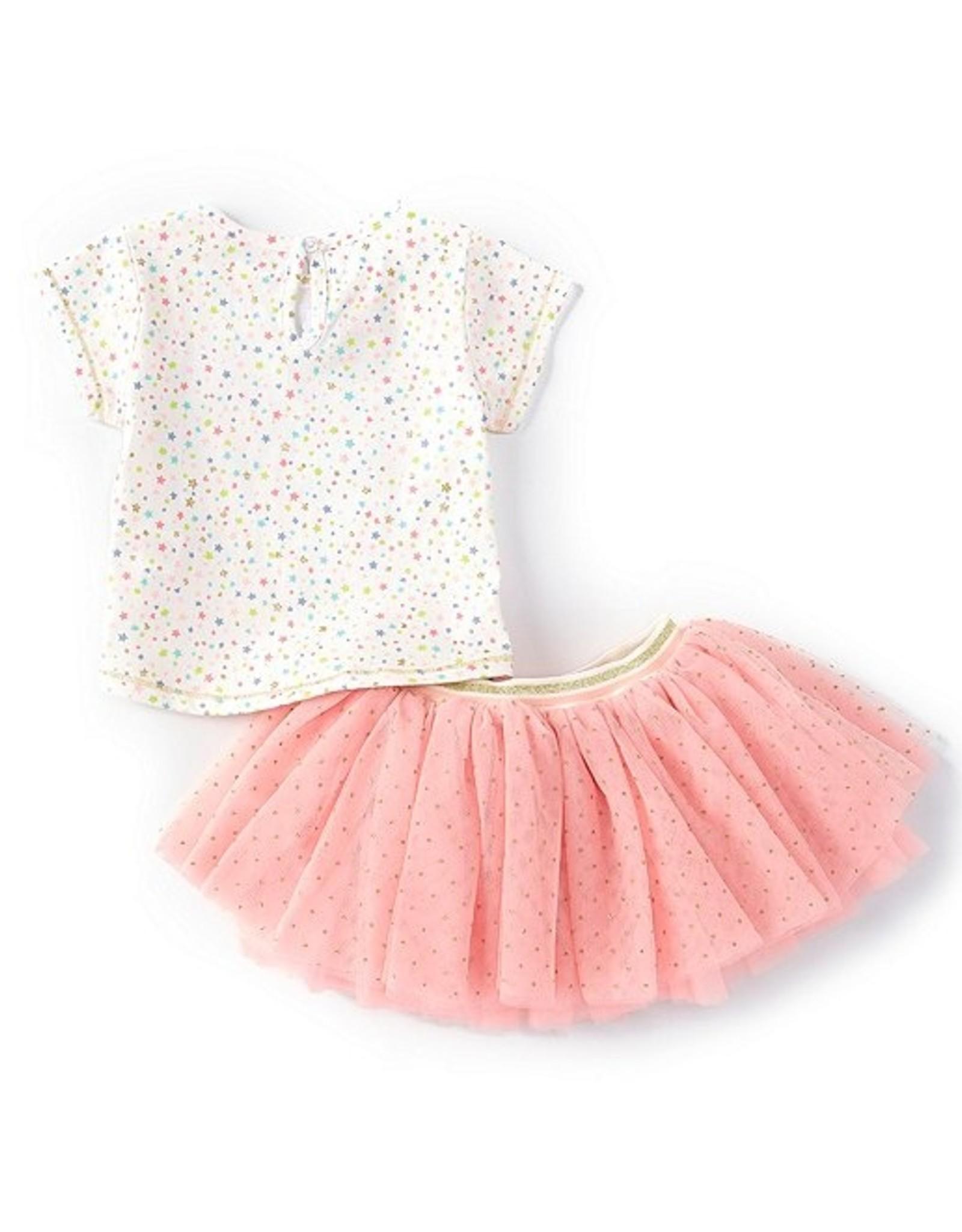Mud Pie Tutu Pink w/ Gold Sparkle Dots 12-18 months