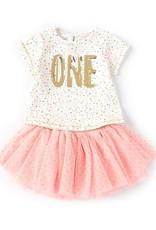 Mud Pie ONE Gold Sequin Shirt 12-18 months