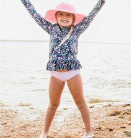 RuffleButts Moonlit Meadow Rash Guard Bikini