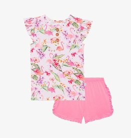 Leilani Henley T-Shirt & ruffled Varsity Short 2T