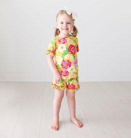 Annika - Ruffled T-Shirt &  Shorts Set