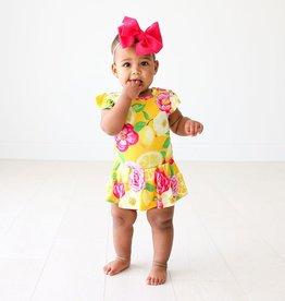 Annika - Ruffled Cpslv Basic Twirl Skirt Bodysuit