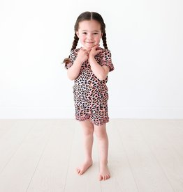 Posh Peanut Roxy - Micro Ruffled T-Shirt & Ruffled PJ Shorts Set