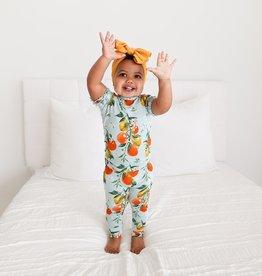 Posh Peanut Mirabella - Micro Ruffled Short Slv Pajama Set