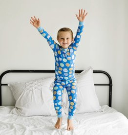Little Sleepies Blue Cookies & Milk 2 pc Pajama Set