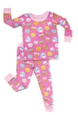 Little Sleepies Pink Cookies & Milk Pajama Set