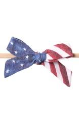 Copper Pearl Patriot Headband Bow