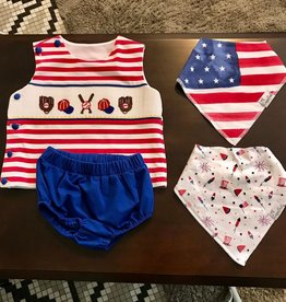 Patriotic Embroidered 2 pc. 9 months