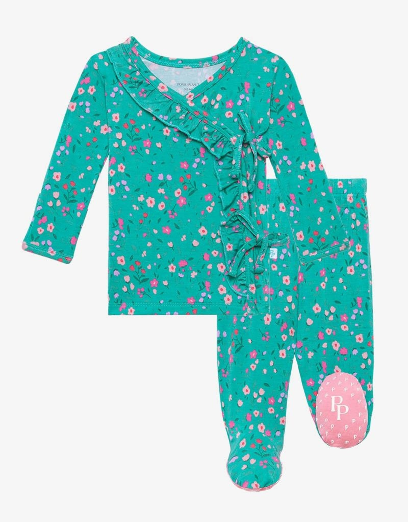 Posh Peanut Cassandra Ruffled Kimono 0-3 months