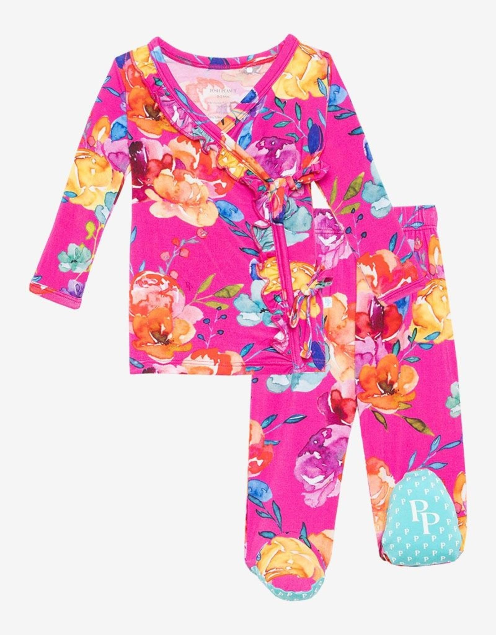 Posh Peanut Aminatu Ruffled Kimono 0-3 months