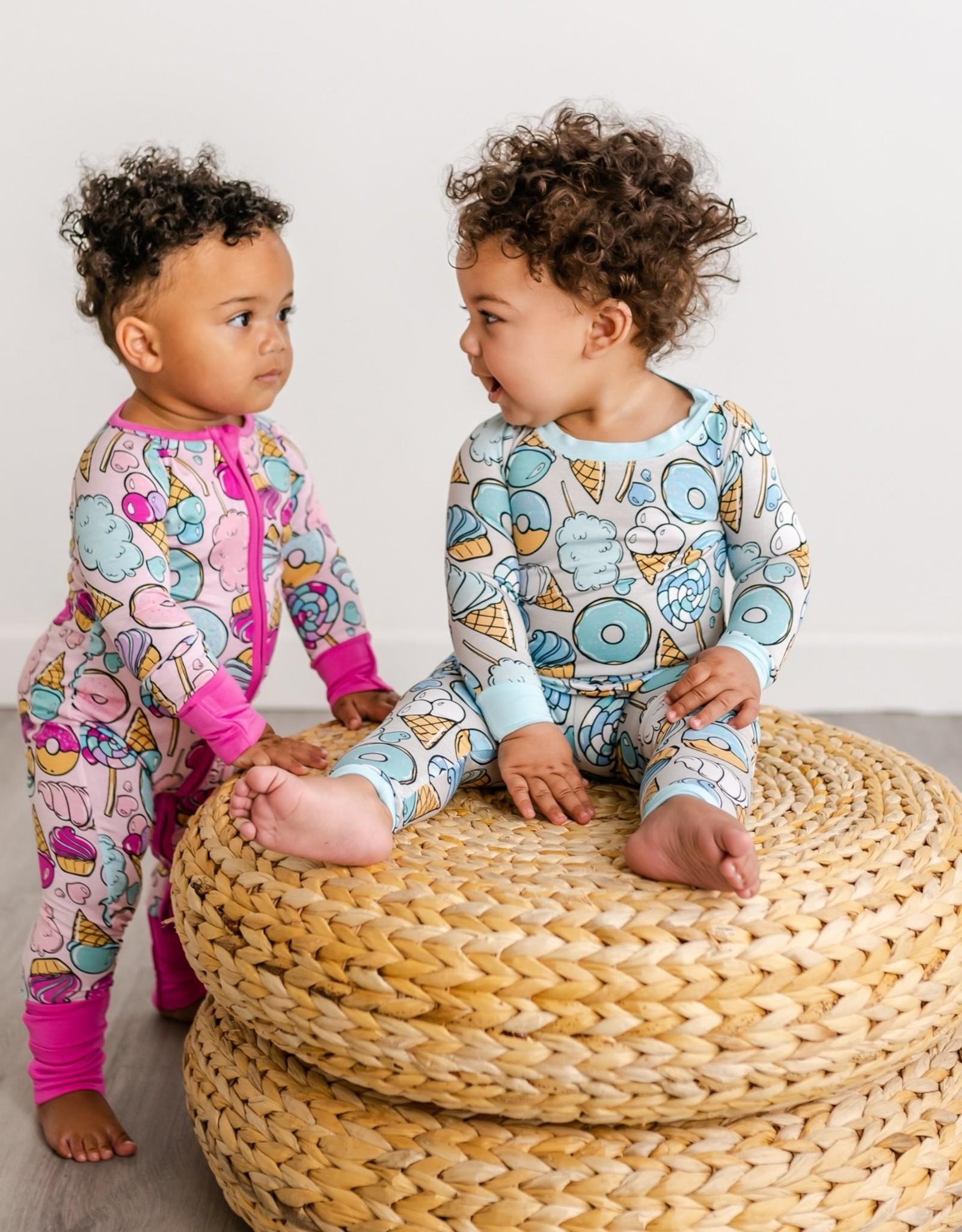 Little Sleepies Gray Sweet Treats bamboo 2-piece pajama set